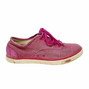 Ugg   Hally Pink Canvas Sneaker